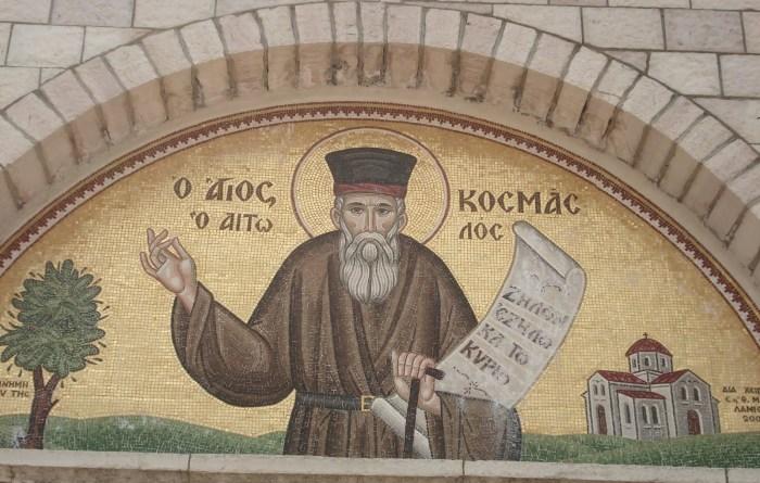 (Video) Rapsodia Bizantină:  Crucea   neamului, Kosma Etolianul — Graiul Ortodox. O frumoasă evocare a Sfîntului Kosma Etolianul, sau Etolul, – cel martirizat de evrei –  cu o substanțială bibliografie. Disponibilă și în limba română, în cartea Constantin V. Triandafillu, Sfântul Cosma Etolianul – Viaţa şi învăţăturile, traducere de Ieroschim. Ştefan Nuţescu, Editura Evanghelismos, Bucureşti,2010