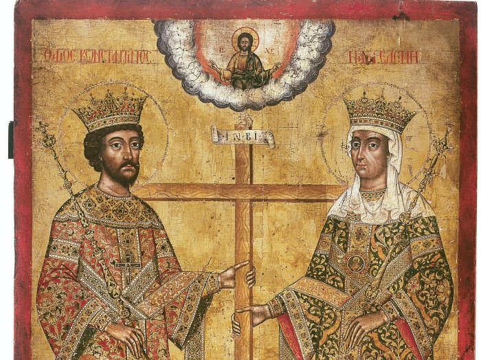 Sfinții Împărați Constantin și maica sa Elena, cei Întocmai cu Apostolii, Apărătorii Bisericii, carii curat pre Domnul auiubit.
