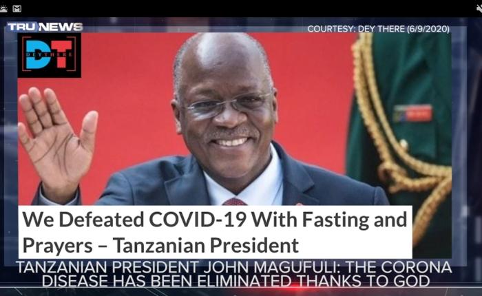 """In timp ce Președintele Tanzaniei, creștinul John Magufuli cel născut în Tanganika cheamă la lupta contra depravării în ţara lui, dă pe faţă minciuna COVID.ică chemînd poporul la pocăinţă înaintea lui Dumnezeu şi anunţă victorios lichidarea covidului prin post şi prin rugăciune, în ţară milenar ortodoxă """"reprezentanţii"""" Bisericii nu mai prididesc cu """"reiterările"""" distanţării sociale. – Vezi Ediţia TruNews (www.trunews.com) de ieri, 16 iunie 2020, minutul1:14:00."""