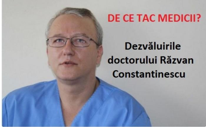 """De ce tac medicii din România? Dr. Răzvan Constantinescu ne dezvăluie realitatea sinistra din interiorul sistemului medical: ei tac deoarece """"prin conștiința lor bate vîntul"""" – adică e o conștiință pustie, care de fapt nu există. Și, ne întrebăm noi la ActaDiurna, ce înseamnă un medic fără conștiință? Înseamnă asasin în MASSA, cu sînge rece și cu premeditare. Înseamnă Mengele de la Auschwitz-Birkenau."""