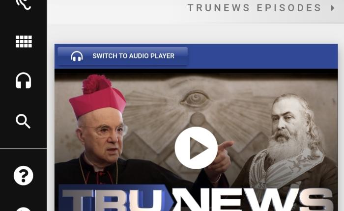 """Cardinalul Vigano: """"marea resetare"""" este proiect masonic de implementare a religiei mondiale luciferiene, sau """"a viitorului"""" – www.trunews.com, ediţia de ieri, joi 2 septembrie 2021. Doar înengleză."""